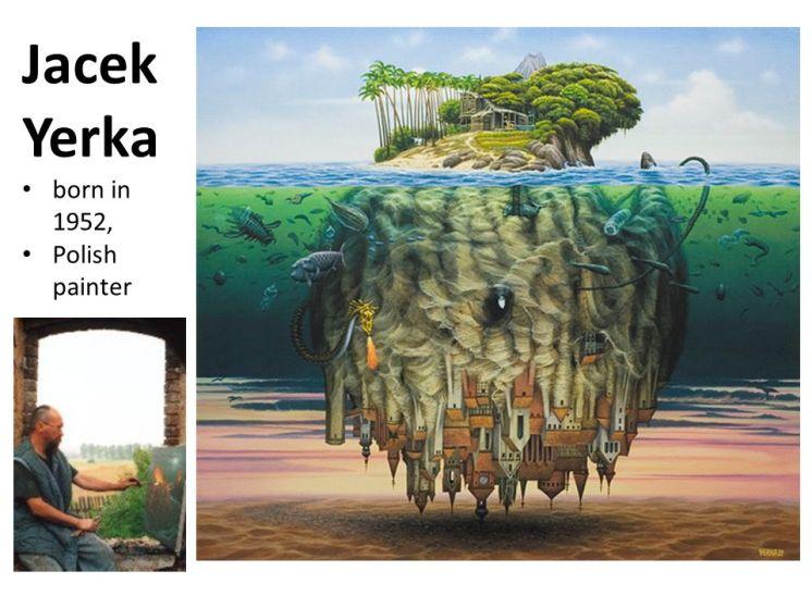 Jacek Yerka born in 1952, Polish painter